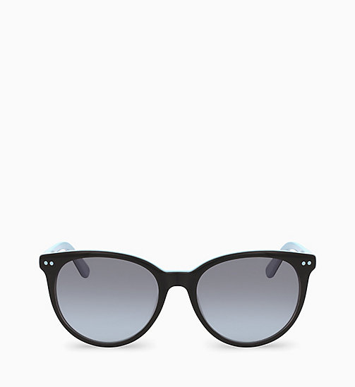 CALVINKLEIN Round Sunglasses CK18509S - BLACK LIGHT BLUE - CALVIN KLEIN SUNGLASSES - main image