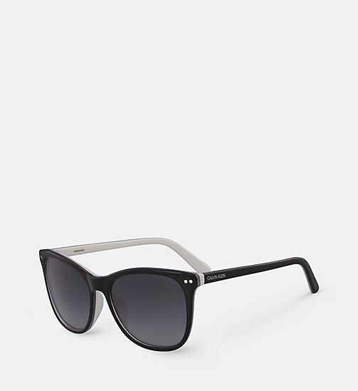 CALVINKLEIN Square Sunglasses CK18510S - BLACK/ WHITE -  SUNGLASSES - detail image 1