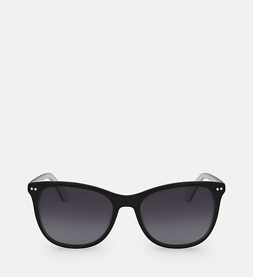 CALVINKLEIN Square Sunglasses CK18510S - BLACK / WHITE - CALVIN KLEIN SUNGLASSES - main image