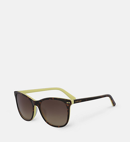 CALVINKLEIN Square Sunglasses CK18510S - TORTOISE/YELLOW -  SUNGLASSES - detail image 1