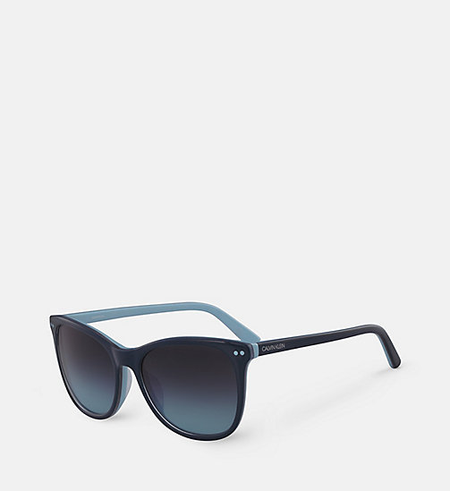 CALVINKLEIN Square Sunglasses CK18510S - TEAL/LIGHT BLUE - CALVIN KLEIN SUNGLASSES - detail image 1
