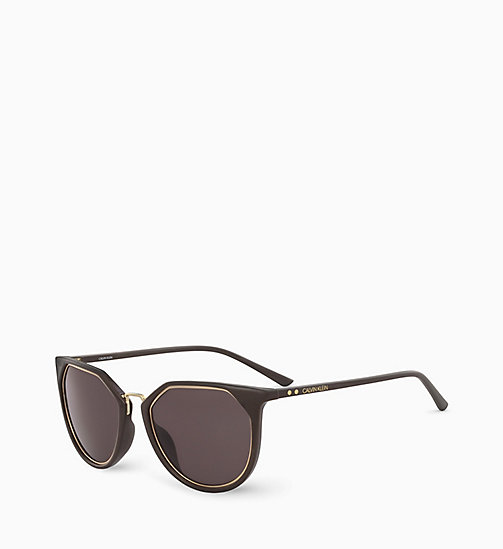 CALVIN KLEIN Round Sunglasses CK18531S - DARK BROWN - CALVIN KLEIN SUNGLASSES - detail image 1