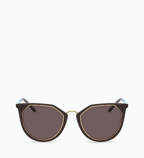 CALVINKLEIN Round Sunglasses CK18531S - DARK BROWN - CALVIN KLEIN SUNGLASSES - main image