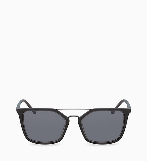 CALVIN KLEIN Rectangle Sunglasses CK18532S - MATTE BLACK - CALVIN KLEIN SUNGLASSES - main image