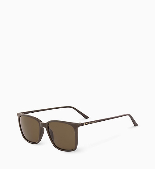 CALVINKLEIN Square Sunglasses CK18534S - DARK BROWN - CALVIN KLEIN SUNGLASSES - detail image 1