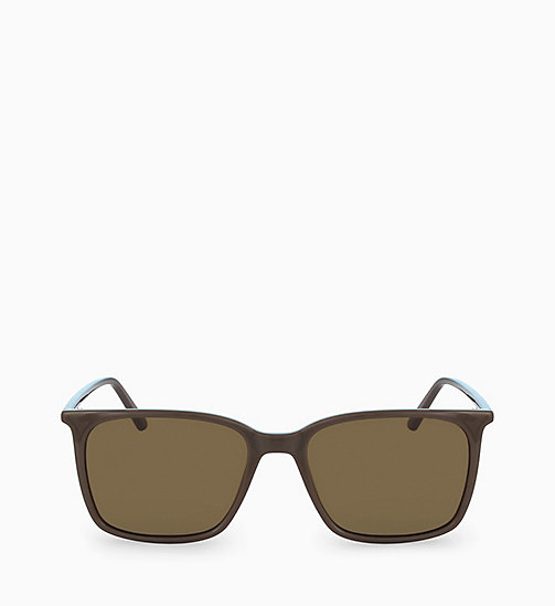 CALVIN KLEIN Square Sunglasses CK18534S - DARK BROWN - CALVIN KLEIN SUNGLASSES - main image