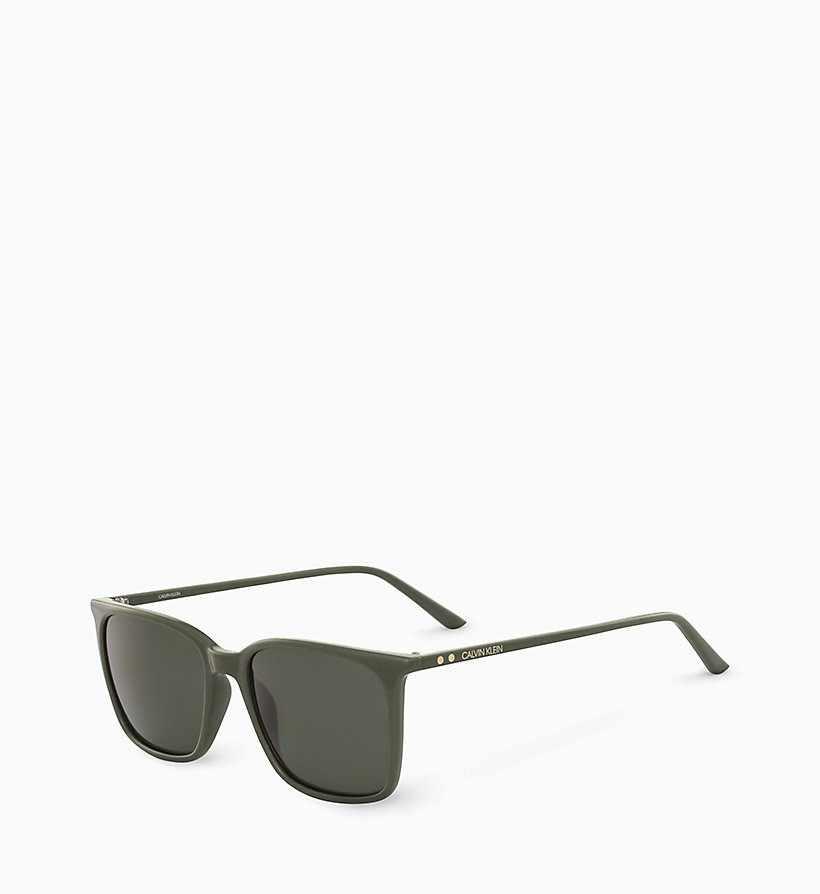 CALVIN KLEIN Square Sunglasses CK18534S - DARK BROWN - CALVIN KLEIN MEN - detail image 1