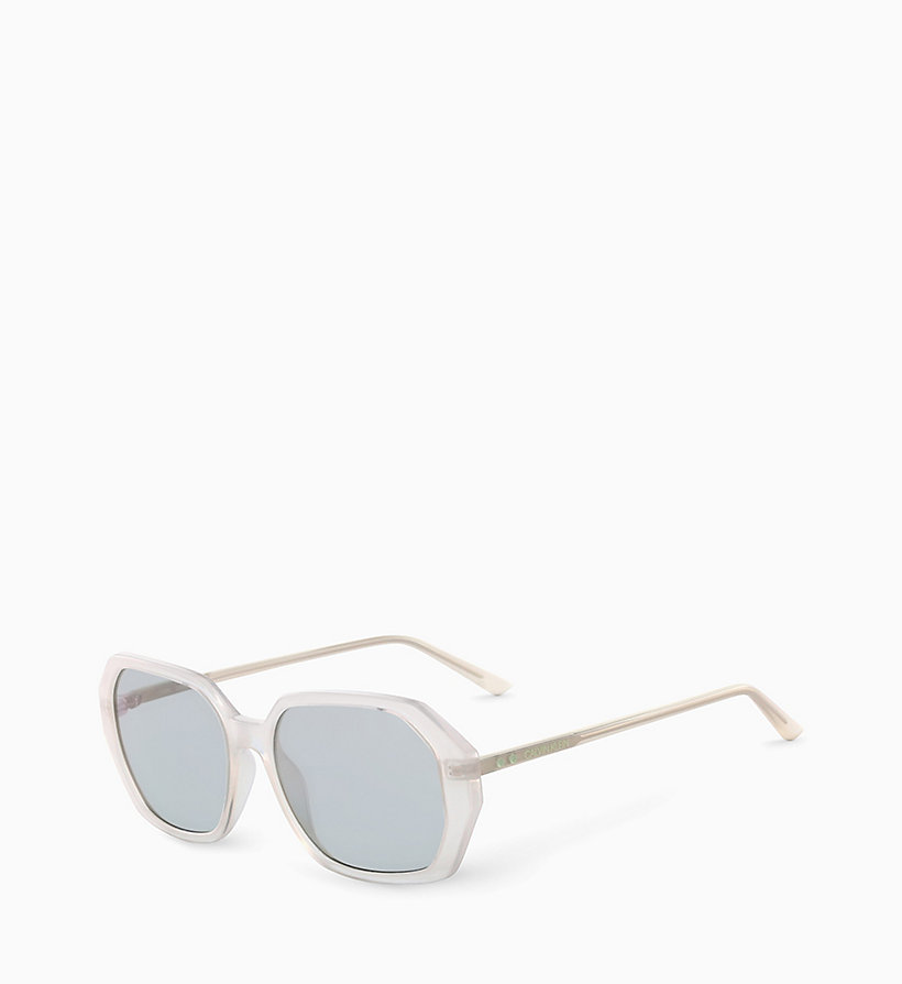 CALVIN KLEIN Rectangle Sunglasses CK18535S - MILKY LIGHT BLUE - CALVIN KLEIN WOMEN - detail image 1