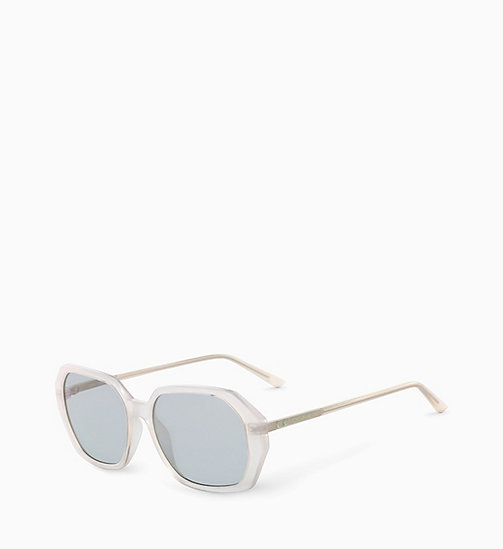 CALVIN KLEIN Rectangle Sunglasses CK18535S - MILKY BONE - CALVIN KLEIN SUNGLASSES - detail image 1