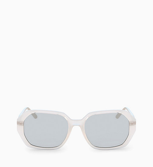 CALVINKLEIN Rectangle Sunglasses CK18535S - MILKY BONE - CALVIN KLEIN SUNGLASSES - main image