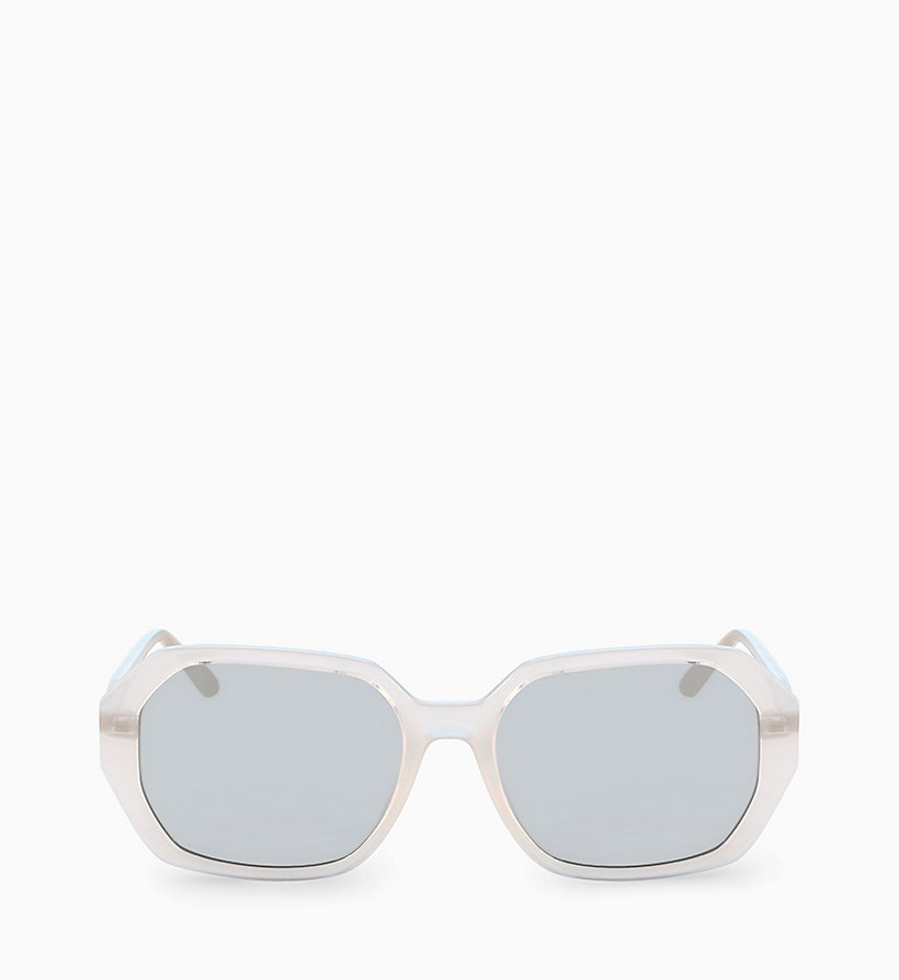CALVIN KLEIN Rectangle Sunglasses CK18535S - MILKY LIGHT BLUE - CALVIN KLEIN WOMEN - main image