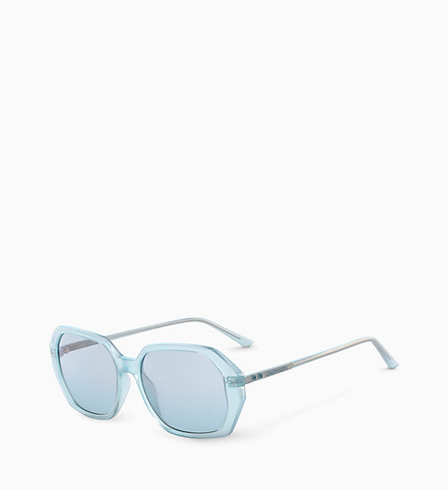 CALVINKLEIN Rectangle Sunglasses CK18535S - MILKY LIGHT BLUE - CALVIN KLEIN SUNGLASSES - detail image 1