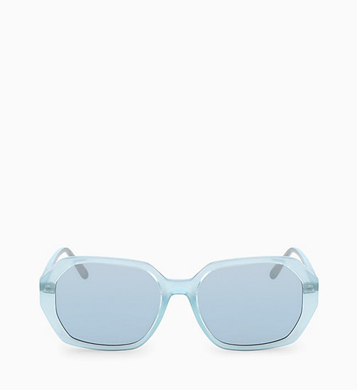 CALVINKLEIN Rectangle Sunglasses CK18535S - MILKY LIGHT BLUE - CALVIN KLEIN SUNGLASSES - main image