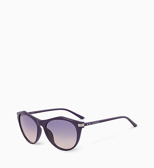 CALVIN KLEIN Cat Eye Sunglasses CK18536S - DARK PURPLE - CALVIN KLEIN SUNGLASSES - detail image 1
