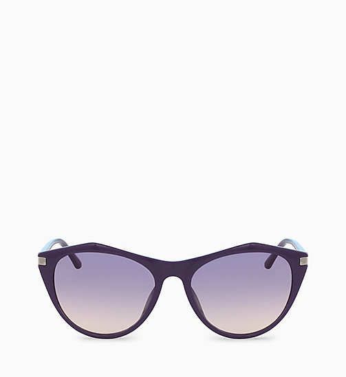 CALVINKLEIN Cat Eye Sunglasses CK18536S - DARK PURPLE - CALVIN KLEIN SUNGLASSES - main image