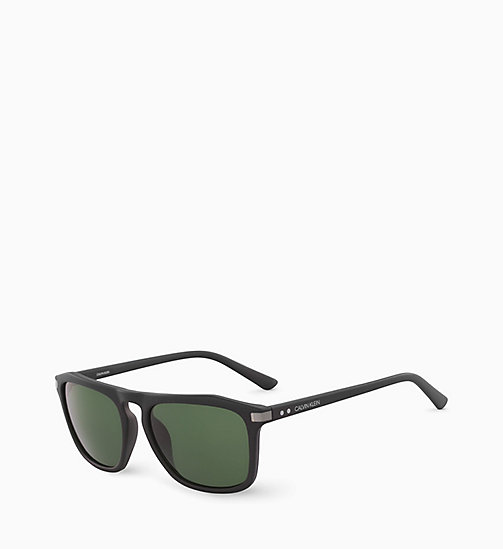 CALVINKLEIN Rectangle Sunglasses CK18537S - MATTE BLACK - CALVIN KLEIN SUNGLASSES - detail image 1