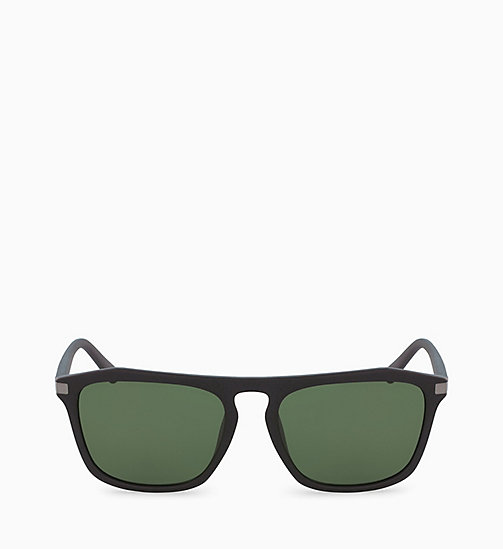 CALVIN KLEIN Rectangle Sunglasses CK18537S - MATTE BLACK - CALVIN KLEIN SUNGLASSES - main image