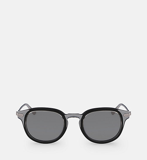 CALVINKLEIN Round Sunglasses CK18701S - CRYSTAL SMOKE/BLACK - CALVIN KLEIN MEN - main image