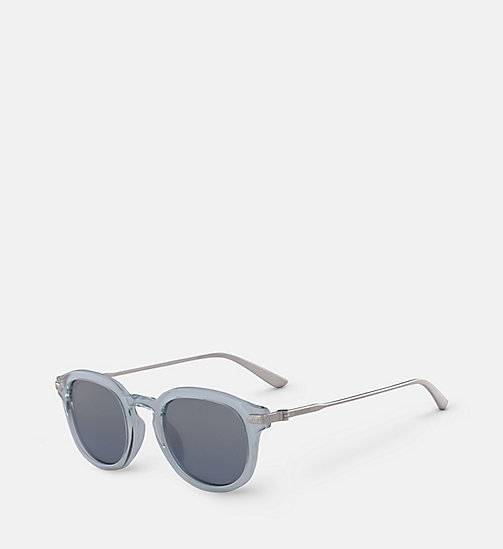 CALVIN KLEIN Round Sunglasses CK18701S - CRYSTAL LIGHT BLUE/SKY - CALVIN KLEIN SUNGLASSES - detail image 1