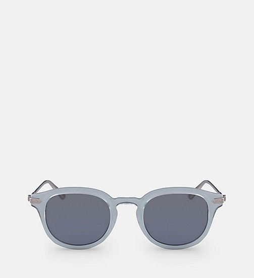 CALVIN KLEIN Round Sunglasses CK18701S - CRYSTAL LIGHT BLUE/SKY - CALVIN KLEIN SUNGLASSES - main image