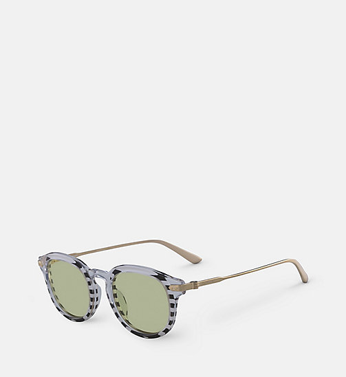 CALVINKLEIN Round Sunglasses CK18701S - CRYSTAL/STRIPES - CALVIN KLEIN SUNGLASSES - detail image 1