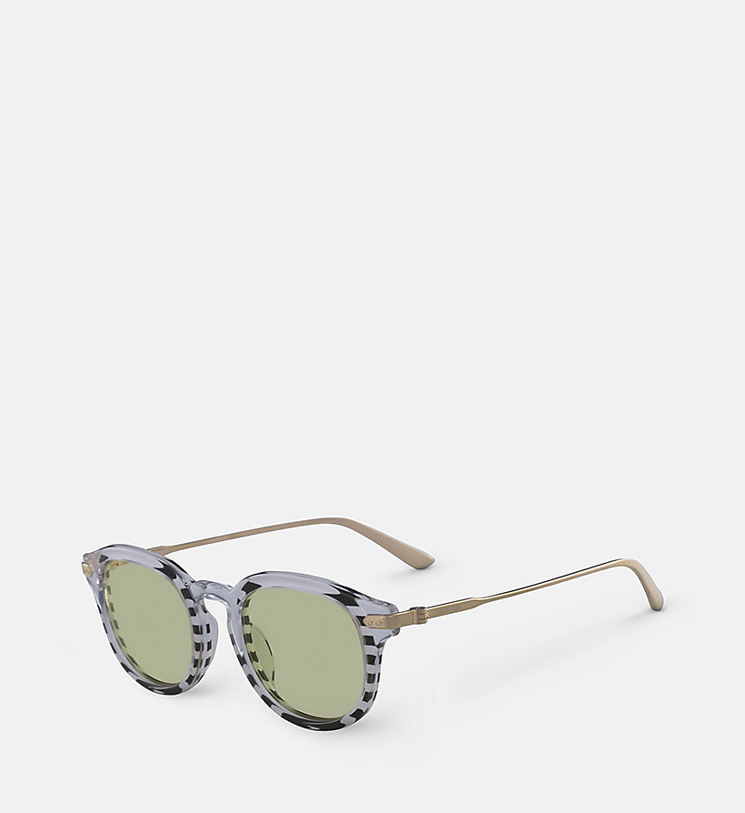 CALVINKLEIN Round Sunglasses CK18701S - CRYSTAL LIGHT BLUE/SKY - CALVIN KLEIN WOMEN - detail image 1