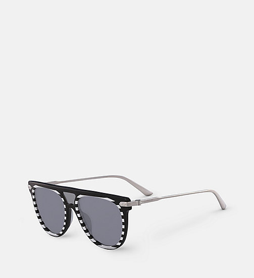 CALVINKLEIN Aviator Sunglasses CK18703S - BLACK/STRIPES - CALVIN KLEIN SUNGLASSES - detail image 1