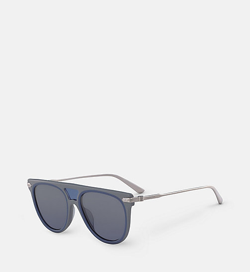 CALVINKLEIN Aviator Sunglasses CK18703S - GREY / BLUE - CALVIN KLEIN SUNGLASSES - detail image 1