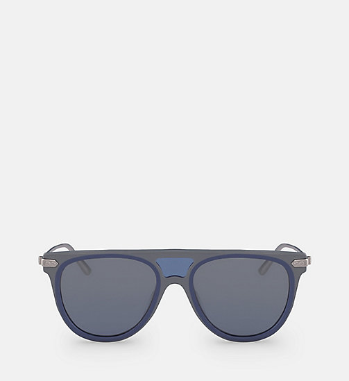 CALVINKLEIN Aviator Sunglasses CK18703S - GREY / BLUE -  SUNGLASSES - main image