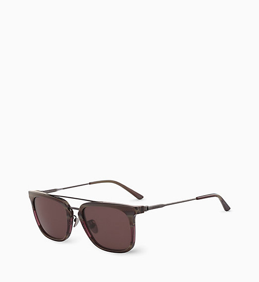 CALVINKLEIN Rectangle Sunglasses CK18719S - CHOCOLATE HORN - CALVIN KLEIN SUNGLASSES - detail image 1