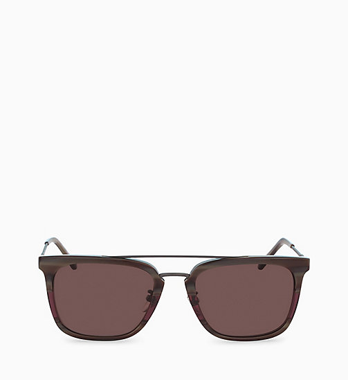 CALVINKLEIN Rectangle Sunglasses CK18719S - CHOCOLATE HORN - CALVIN KLEIN SUNGLASSES - main image