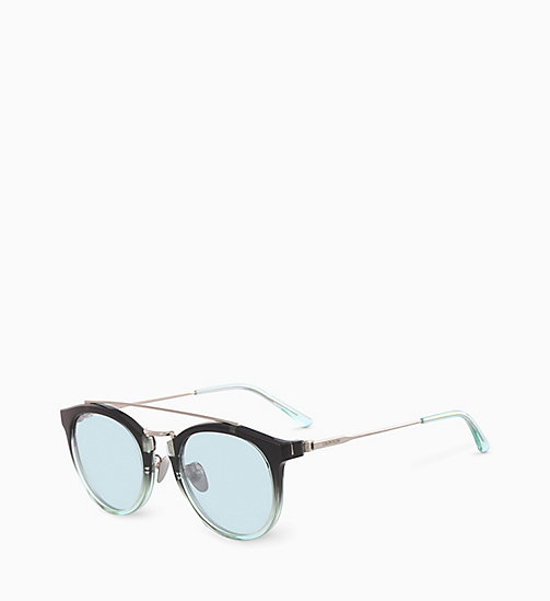 CALVINKLEIN Round Sunglasses CK18720S - CRYSTAL SMOKE MINT GRADIENT - CALVIN KLEIN SUNGLASSES - detail image 1