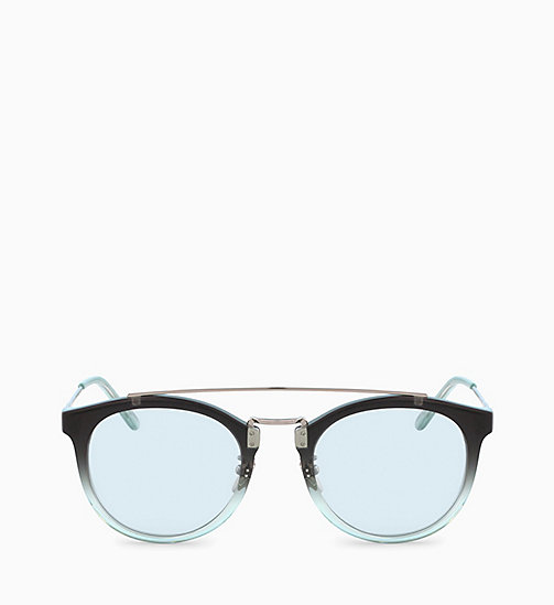 CALVINKLEIN Round Sunglasses CK18720S - CRYSTAL SMOKE MINT GRADIENT - CALVIN KLEIN SUNGLASSES - main image