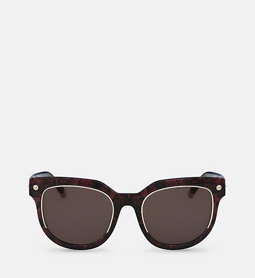 CALVINKLEIN Rectangle Sunglasses CK3202SS - RED SNAKE - CALVIN KLEIN SUNGLASSES - main image
