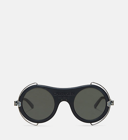 CALVIN KLEIN COLLECTION Sonnenbrille mit Metallrahmen und Logo - MATTE BLACK - CALVIN KLEIN COLLECTION EYEWEAR - main image