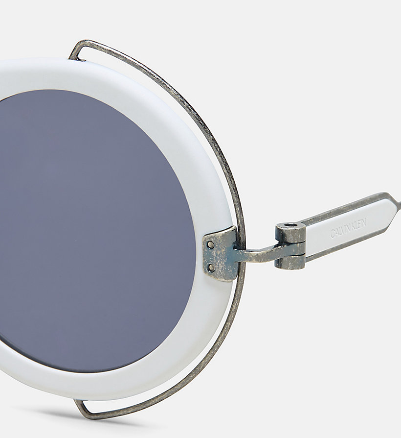 205W39NYC Round Metal Trim 205W39NYC Logo Sunglasses - MATTE BURGUNDY - 205W39NYC WOMEN - detail image 2