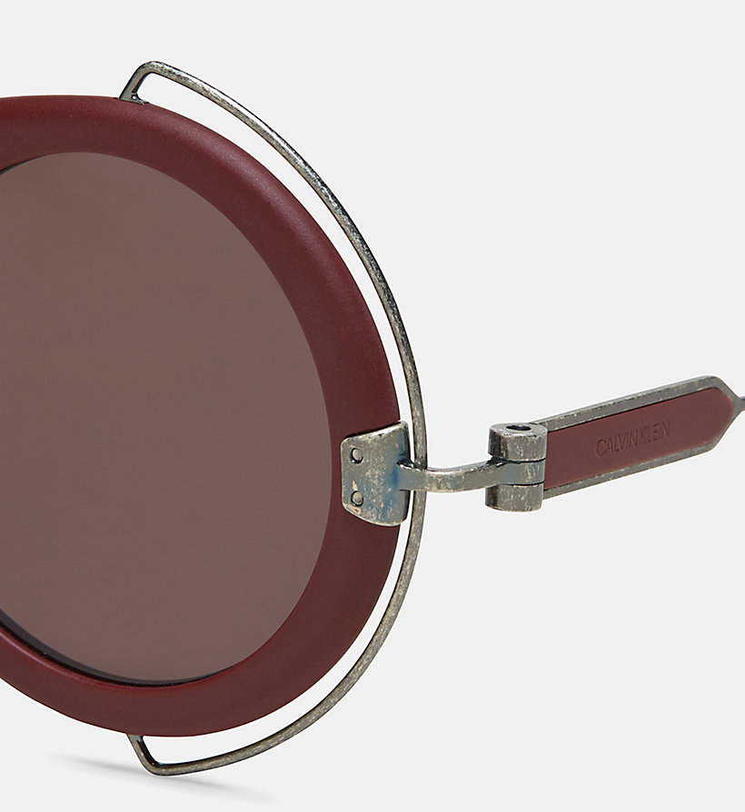 205W39NYC Round Metal Trim 205W39NYC Logo Sunglasses - MATTE FOREST GREEN - 205W39NYC WOMEN - detail image 2