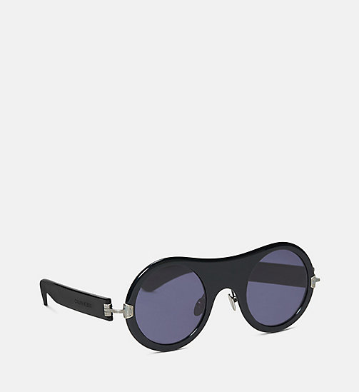 CALVIN KLEIN COLLECTION Runde schlichte Sonnenbrille - BLACK - CALVIN KLEIN COLLECTION EYEWEAR - main image 1