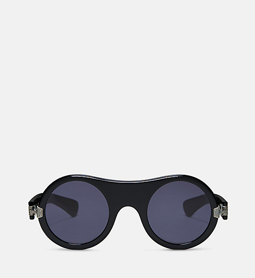 CALVIN KLEIN COLLECTION Round Plain Sunglasses - BLACK - CALVIN KLEIN COLLECTION EYEWEAR - main image