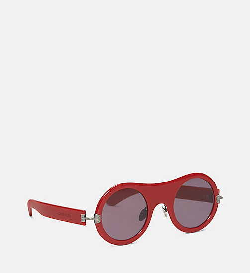 CALVIN KLEIN COLLECTION Round Plain Sunglasses - RED - CALVIN KLEIN COLLECTION EYEWEAR - detail image 1