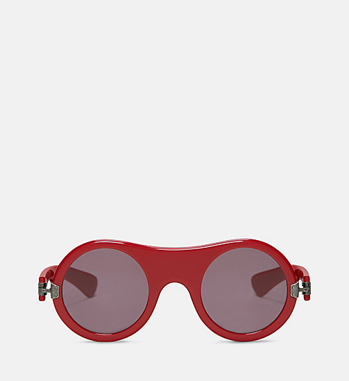 CALVIN KLEIN COLLECTION Round Plain Sunglasses - RED - CALVIN KLEIN COLLECTION EYEWEAR - main image