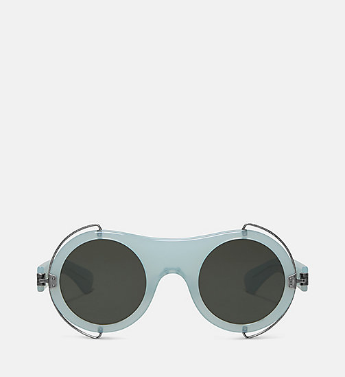 CALVIN KLEIN COLLECTION Round Metal Trim Sunglasses - MILKY LIGHT GREEN - CALVIN KLEIN COLLECTION EYEWEAR - main image