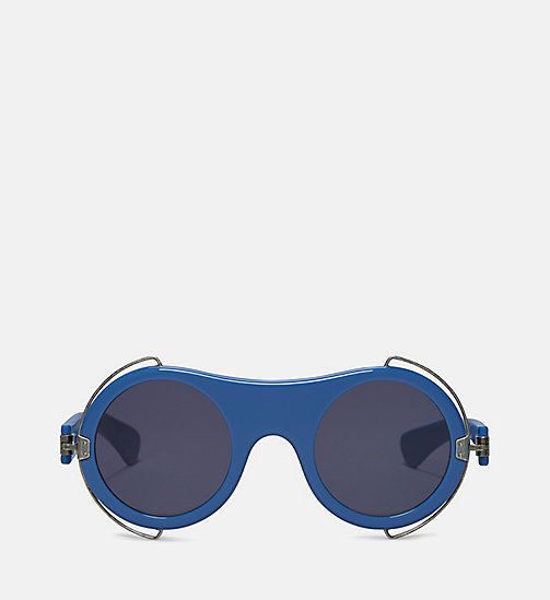 CALVIN KLEIN COLLECTION Runde Sonnenbrille mit Metallrahmen - CORNFLOWER BLUE - CALVIN KLEIN COLLECTION EYEWEAR - main image
