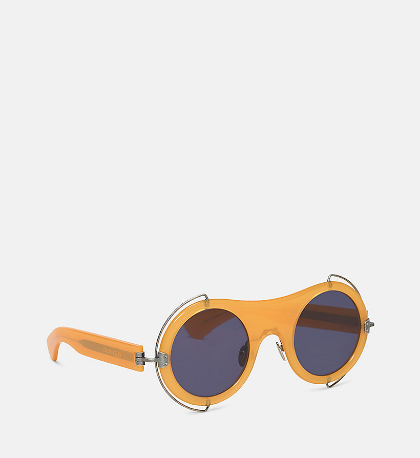 CALVIN KLEIN COLLECTION Round Sunglasses CKC1877S - CORNFLOWER BLUE - CALVIN KLEIN COLLECTION WOMEN - detail image 1