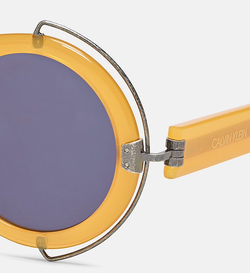 CALVIN KLEIN COLLECTION Round Sunglasses CKC1877S - CORNFLOWER BLUE - CALVIN KLEIN COLLECTION WOMEN - detail image 2