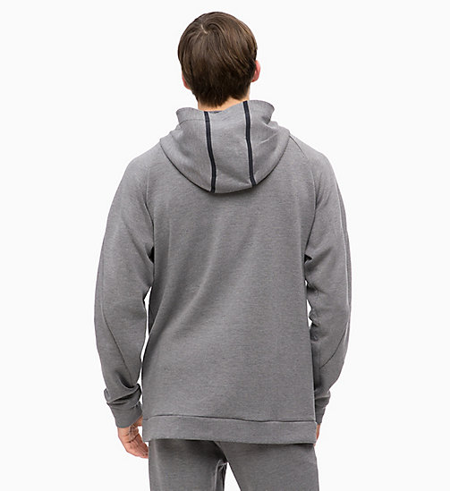 CALVINKLEIN Zip Through Hoodie - MEDIUM GREY HEATHER - CALVIN KLEIN SPORT - detail image 1