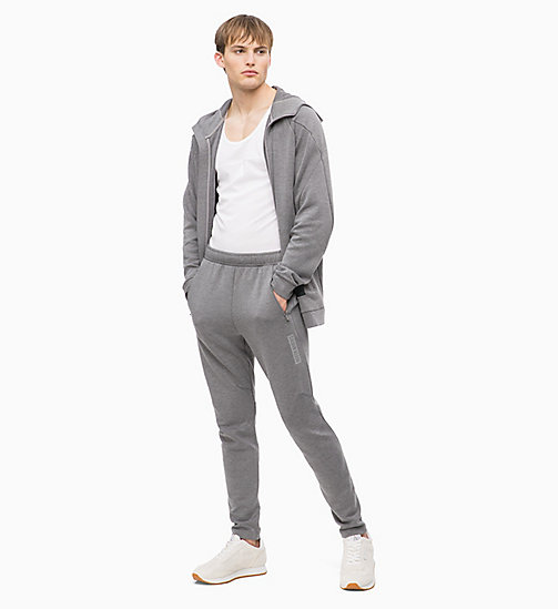 CALVIN KLEIN Zip Through Hoodie - MEDIUM GREY HEATHER - CALVIN KLEIN SPORT - detail image 1
