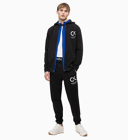 CALVIN KLEIN Zip Through Hoodie - CK BLACK - CALVIN KLEIN SPORT - detail image 1