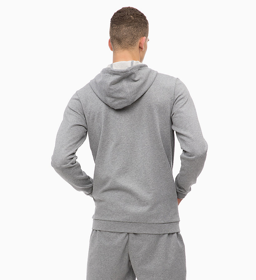 CALVIN KLEIN Zip Through Hoodie - EVENING BLUE - CALVIN KLEIN PERFORMANCE - detail image 1