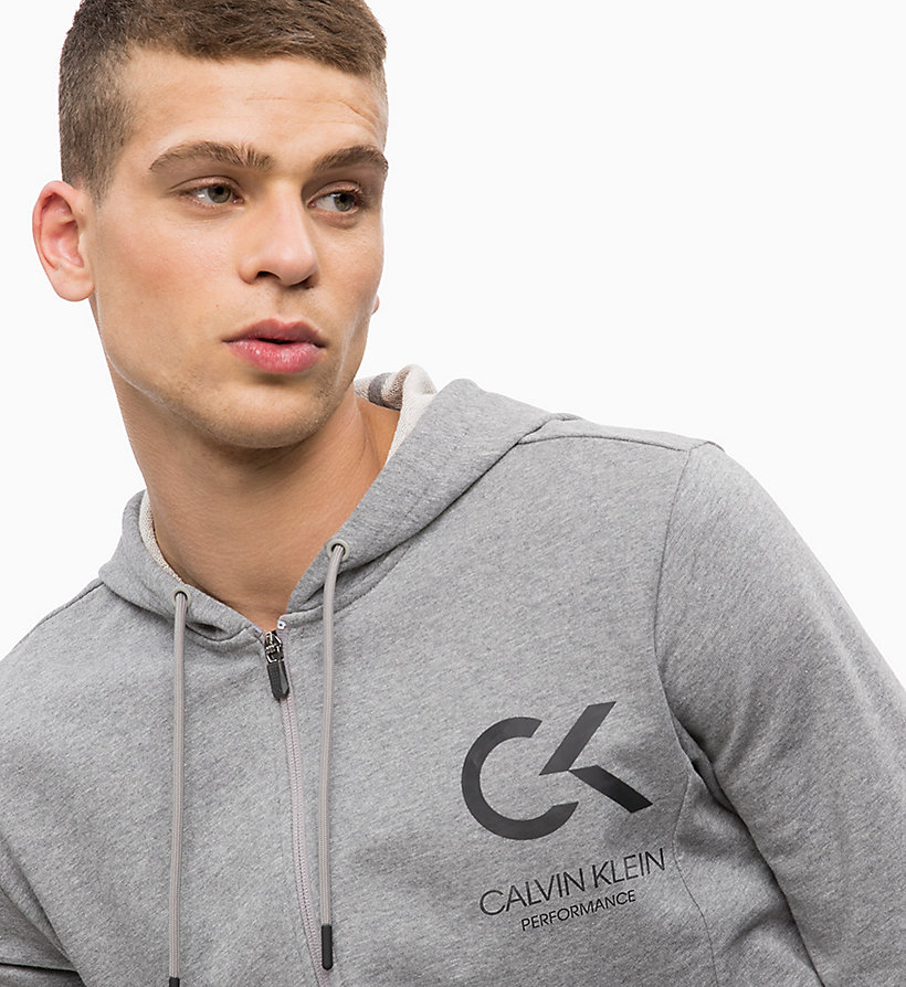 CALVIN KLEIN Zip Through Hoodie - EVENING BLUE - CALVIN KLEIN PERFORMANCE - detail image 2
